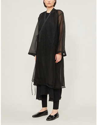 RENLI SU Loose-fit flared-sleeves lace coat