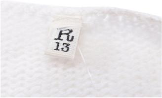 R 13 White Cashmere Knitwear