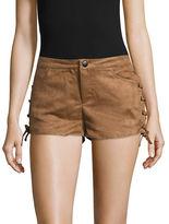 BB Dakota Suede-Style Lace-Up Shorts