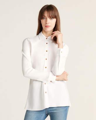 Rosetta Getty Crepe Long Sleeve Sport Shirt