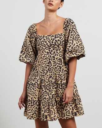 Faithfull The Brand Women's Brown Mini Dresses - Eryn Mini Dress - Size XS at The Iconic