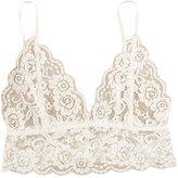 Bestpriceam Women's Sexy Lace Floral Bralette Spaghetti Strap Bra Club Crop Top (M, )