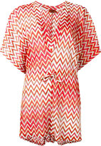 Missoni zig-zag drawstring tunic - women - Viscose - 40