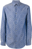 Giorgio Armani Mixed pattern shirt - men - Cotton - 39
