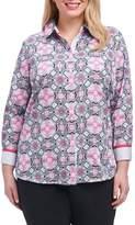 Foxcroft Ava Mosaic Tile Shirt