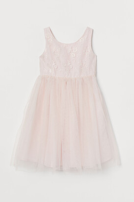 H&M Bow-detail tulle dress