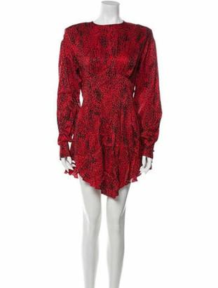 Alessandra Rich Silk Mini Dress Red