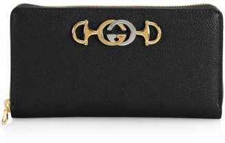 Gucci Zumi Grainy Leather Zip Around Wallet