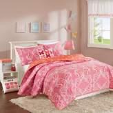 INK+IVY Kids Julia Reversible Full/Queen Coverlet Set in Pink