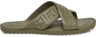 Fendi embossed FF motif flat sandals