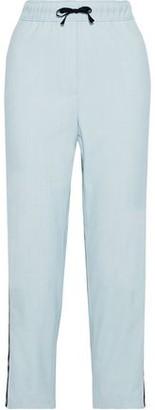 Maje Payoli Snap-detailed Crepe Straight-leg Pants