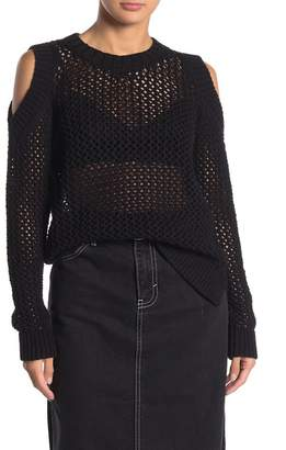 AllSaints Arzana Cold Shoulder Open Knit Sweater