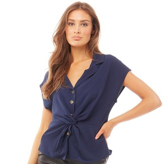Brave Soul Womens Maxwell Blouse Navy