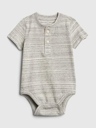 Gap Baby Henley Short Sleeve Bodysuit