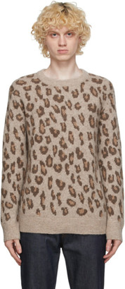 A.P.C. Brown Leopard Esther Sweater