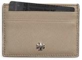 Tory Burch Women's 'Robinson' Slim Saffiano Leather Card Case - Black