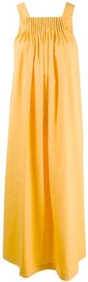 Three Graces Evita pleated detail dress