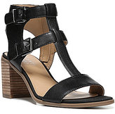 Franco Sarto Hasina Double Buckle T-Strap Block Heel Dress Sandals