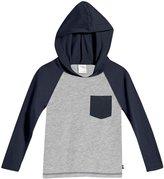 City Threads Hooded Raglan w/Pocket (Toddler/Kid) - Navy/Red - 2T