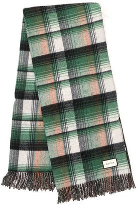 Gucci GG Check Reversible Throw Blanket