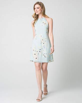 Le Château Floral Print Knit Halter Cocktail Dress