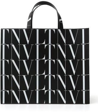 Valentino VLTN Logo Print Tote Bag