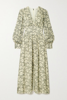 Jason Wu Floral-print Fil Coupe Silk-blend Chiffon Maxi Dress - Ivory