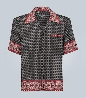 Dolce & Gabbana Hawaii bandana-print silk shirt