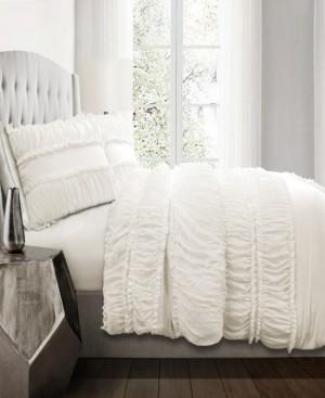 Lush Decor Nova Ruffle 3Pc Full/Queen Comforter Set Bedding