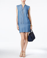 MICHAEL Michael Kors Chambray Lace-Up Shirtdress