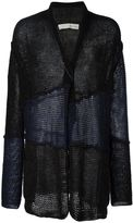 Isabel Benenato panelled open front cardigan