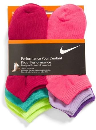 Nike Girl's 6-Pack No-Show Socks