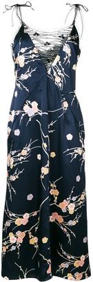 Giorgio Armani Pre Owned Embellished Floral Slip Dress