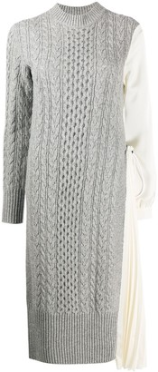 Sacai Cable Knit Jumper Dress