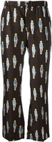 Dondup patterned lightweight trousers