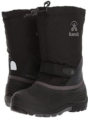 Kamik Waterbug Wide (Toddler/Little Kid/Big Kid) (Black/Charcoal) Kids Shoes