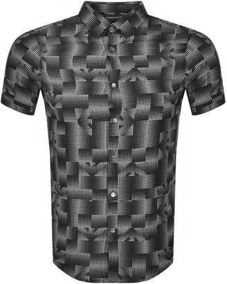 Giorgio Armani Emporio Slim Fit Short Sleeved Shirt Black