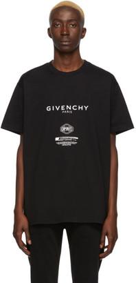 Givenchy Black Text Print T-Shirt