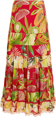 Farm Rio Macaw Tiered Maxi Skirt