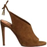 Aquazzura Ami tie-back suede sandals