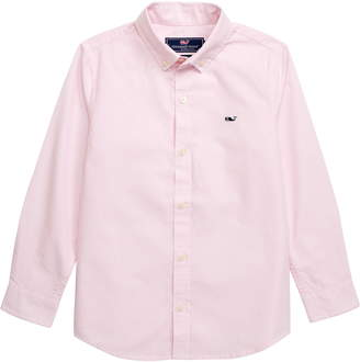 Vineyard Vines Fine Line Stripe Whale Shirt