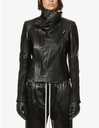 Rick Owens Larry padded leather jacket