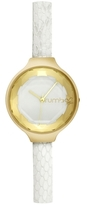 RumbaTime Orchard Gem Exotic Leather Crystal Watch, 34.2mm