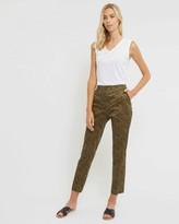 Jaeger Cotton Leopard Print Trousers