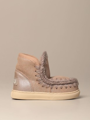 Mou Eskimo Ankle Boot Sneakers With Suede Effect