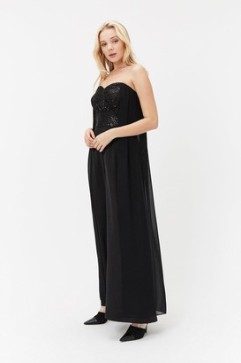 Coast Sequin Bodice Cape Jumpsuit