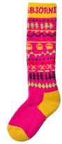 Isbjörn Of Sweden Pink Snowfox Ski Socks