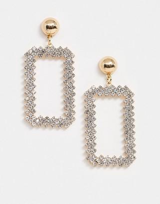 True Decadence drop earrings in crystal square