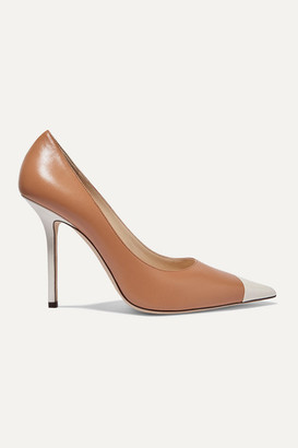 Jimmy Choo Love 100 Two-tone Leather Pumps - Tan