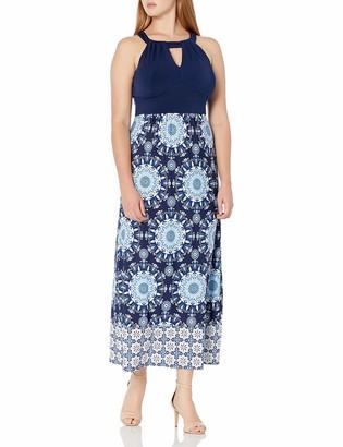 Sandra Darren Women's 1 PC Sleeveless Solid/Printed ITY Maxi Dress